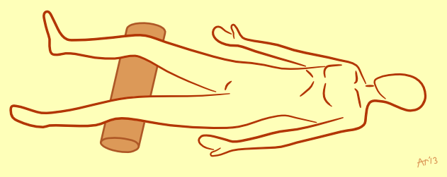Corpse Pose Knee Support